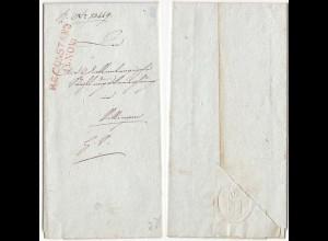 Baden - 1825 Brief CONSTANZ L2r mit Inhalt (12140