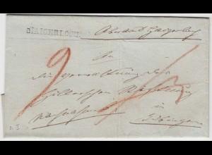 Thurn & Taxis Umschlag HAIGERLOCH L1 mit Taxen (12135