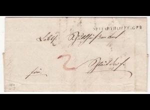 Württemberg - 1841 Brief NECKARTHEILFINGEN L1 mit Inhalt selten! (12134