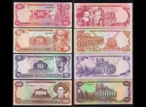 NICARAGUA 10,20,50,1000 CORDOBAS 1979/85 UNC (1) (15835