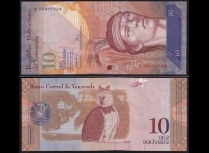 Venezuela 10 Bolivares Banknote 2007 UNC (1) Pick 90a (15840