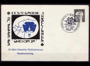 50 Jahre Estnische Pfadfinder/innen Sonderumschlag 1970 Kirn (10204