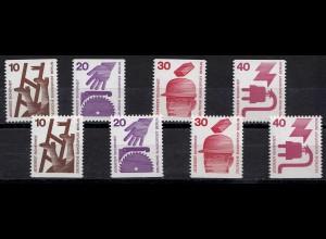 Berlin ** Mi. 403 - 407 C+D Unfallverhütung aus Markenheftchen 1972 (24365