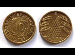 DEUTSCHES REICH 3.REICH 10 Reichspfennig 1935 E Jäger 317 (24368