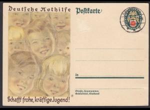 Karte DR Ganzsache 8 Pfg. Nothilfe Gefälligkeitsstempel 1929 (24445