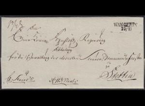 Preussen ca.1825 Umschlag WANGERIN L2 - STETTIN Westpommern (Węgorzyno)