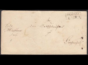 Preussen Umschlag WILDUNGEN mit schwarzen R2 Stempel (24507