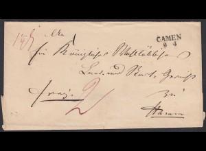 Preussen Umschlag CAMEN (Kamen) L2 nach HAMM (24508