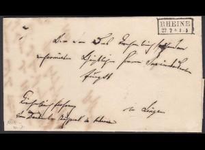 Preussen Brief 1854 RHEINE R2 nach LINGEN mit Inhalt (24510