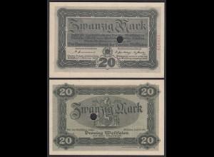 Westfalen - PROVINZ WESTFALEN Münster 20 Mark 1918 aUNC (1-) Notgeld (24497