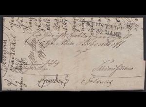 Preussen 1839 NEUSTADT o/s L2 Brief mit einigen Seiten Inhalt (24514