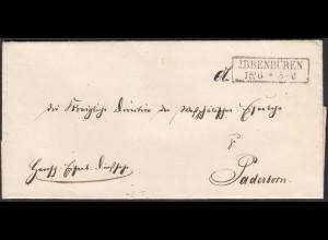 Preussen Umschlag von IBBENBÜREN R2 nach PADERBORN (24517