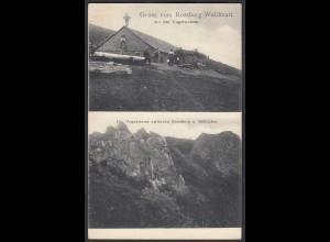 AK Elsass 1908 Gruss vom Rossberg Waldmatt (24489