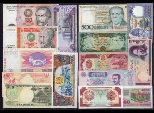 14 Stück verschiedene Banknoten Welt UNC (1) (24355