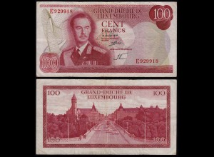 Luxemburg - Luxembourg 100 Francs Banknote 1970 Pick 56a VF- (3-) (14957