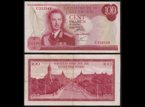Luxemburg - Luxembourg 100 Francs Banknote 1970 Pick 56a VF- (3-) (14954
