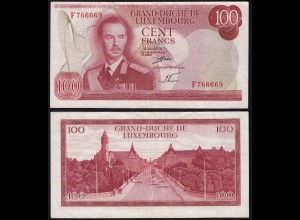 Luxemburg - Luxembourg 100 Francs Banknote 1970 Pick 56a VF (3) (14952