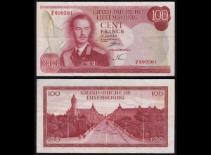 Luxemburg - Luxembourg 100 Francs Banknote 1970 Pick 56a VF (3) (14950