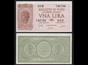 Italien - Italy 1 Lire Banknote 1944 aUNC (1-) Pick 29b (15034