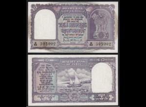 Indien - India - 10 RUPEES Banknote Pick 40b sig.75 aUNC (1-) Letter B (14889