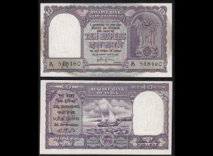 Indien - India - 10 RUPEES Banknote Pick 39c sig.74 UNC (1) Letter A (14899