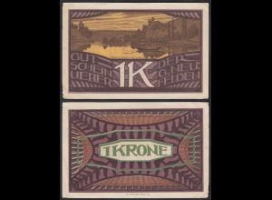Österreich - Austria Neufelden 1 Krone Notgeld Gutschein (14900
