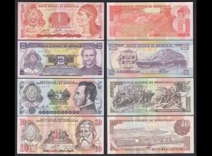 Honduras 1,2,5,10 Lempira 4 Stück Banknoten 1992/08 UNC (1) (19759