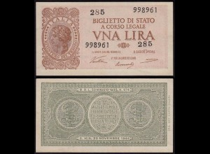 Italien - Italy 1 Lire Banknote 1944 UNC (1) Pick 29a (15022