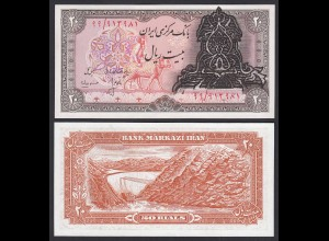Persien - 20 RIALS Überdruck Banknote o.J. Pick 110a UNC (1) (19764
