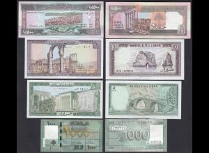 LIBANON - LEBANON 5,10,500,1000 Livres Banknoten UNC (1) (19757