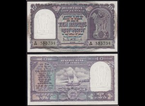 Indien - India - 10 RUPEES Banknote Pick 40b sig.75 UNC (1) Letter B (14887
