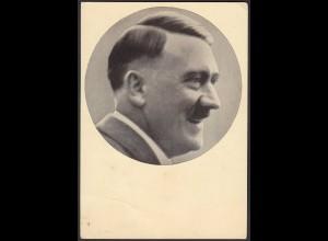 AK NS Militaria Propaganda Karte 3.Reich Hitler 1939 mit roten SST (24460