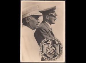 AK NS Propaganda Karte 3.Reich Hitler 1938 Turnfest Breslau (24459