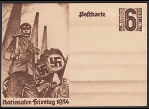 AK NS Militaria Propaganda Karte 3.Reich Nationaler Feiertag 1934 (24452