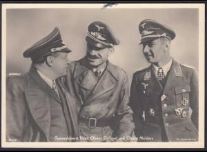 AK NS Militaria Propaganda Karte 3.Reich Udet, Galland, Mölders (24463