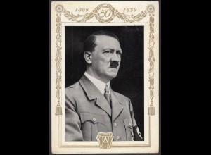 AK NS Militaria Propaganda Karte 3.Reich Hitler 50 Jahre SST (24466