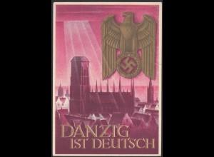 AK NS Militaria Propaganda Karte 3.Reich DANZIG ist Deutsch (24467