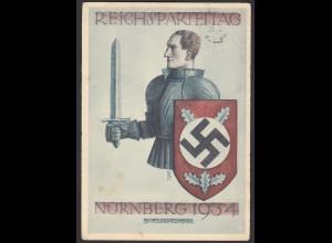 AK NS Militaria Propaganda Karte 3.Reich Reichsparteitag 1934 Nürnberg (24468