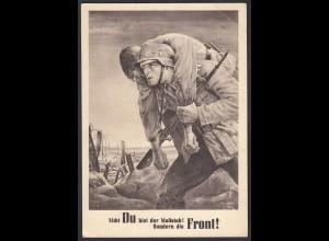 AK NS Militaria Propaganda Karte 3.Reich 1943 Generalgouvernement NSDAP (24469