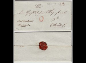 HANNOVER Vorphila 1833 Brief NEUHAUS L1 nach OTTENDORF Inhalt (12139