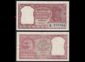 Indien - India - 2 RUPEES Banknote Pick 29b VF (3) (14885