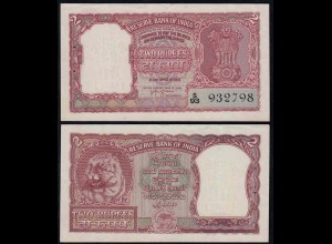 Indien - India - 2 RUPEES Banknote Pick 29b XF (2) (14882