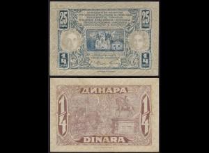 JUGOSLAWIEN - YUGOSLAVIA 25 Para 1921 Pick 13 VF (3) (14876