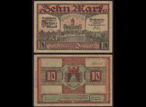 Thüringen Zeulenroda 10 Mark Banknote 1918 Notgeld (14866