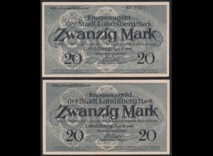 Bayern 20 Mark Ladsberg Lech Kriegsnotgeld 1919 XF (2) (14865