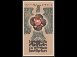 NS Propaganda WHW 1935/36: Der kostbarste Edelstein, das opferbereite deutsche Herz