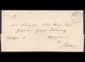 Preussen Umschlag BAHN K2 Pommern nach Stettin (24550