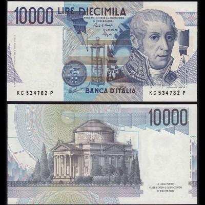 Italy - 10000 10.000 Lire Banknotes 1984 UNC (1) Pick 112 Sig. Ciampi-Stevani