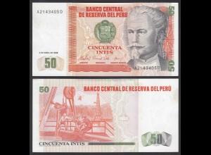 Peru 50 Intis Banknoten 1985 Pick 130 XF (2) (24633