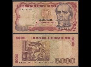 Peru 5000 Soles Banknoten 1981 Pick 130 VG (5) (24634